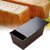 Molde para pan antiadherente,molde para pan tostado,moldes para pan de metal,molde para pan para hornear pan, para hacer pasteles y tostadas (Negro)