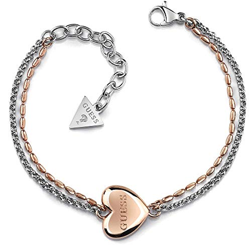 Unchain My Bracciale Cuore Indovina acciaio chirurgico rosa placcato in oro logo UBB78103-S [AC1125]