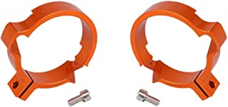 KESOTO 2pcs Motorcycle Exhaust Pipe Clamp Stainless Steel Muffler Silencer Clip for 60-63mm//64-67mm Diameter