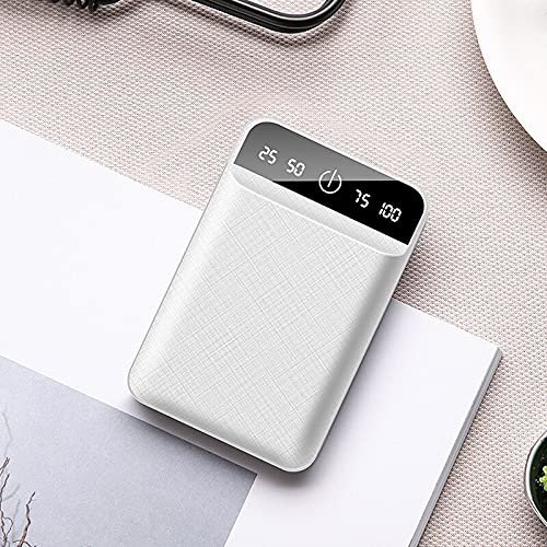 rongshengxinye Mobile Power - Banco de energía de 30000 mAh, doble salida USB, cargador portátil Powerbank Mini banco de energía de carga, batería externa para viajes (color: blanco)
