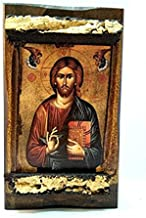 Handmade Wooden Greek Christian Orthodox Mount Athos Icon of Jesus Christ / Mp3_3