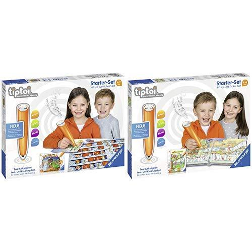 Ravensburger Tiptoi 00802 Starter-Set: Stift und Buchstaben-Spiel &  Tiptoi 00803 Starter-Set: Stift und Buch Erste Zahlen