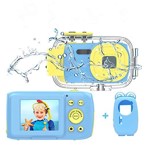 Cámara Fotos Niños Camara Acuatica Niños Full HD 1080P 8MP Camara Fotos Infantil Pantalla TFT HD de 2.0 Pulgadas Camara de Fotos para Niños Camara Acuatica Sumergible Niños