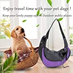 EVBEA Dog Carrier Sling Front Pack Puppy Carrier Purse Breathable Mesh Travel for Small or Medium Pet Dogs Cats Sling Bag 14