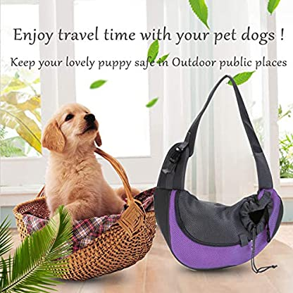 EVBEA Dog Carrier Sling Front Pack Puppy Carrier Purse Breathable Mesh Travel for Small or Medium Pet Dogs Cats Sling Bag 7