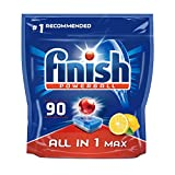 Finish All in One Dishwasher Tablets Lemon Scent, 90 Tablets