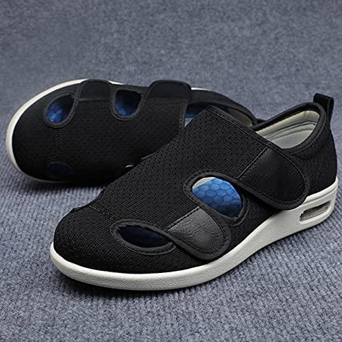 Chaussures Pour Femmes Diabétiques, Chaussures de mère Sandales Flip Stickers Magic Stickers Foot Les chaussures gonflées peuvent réguler les vieilles chaussures après la chirurgie du pied-noir_41EU