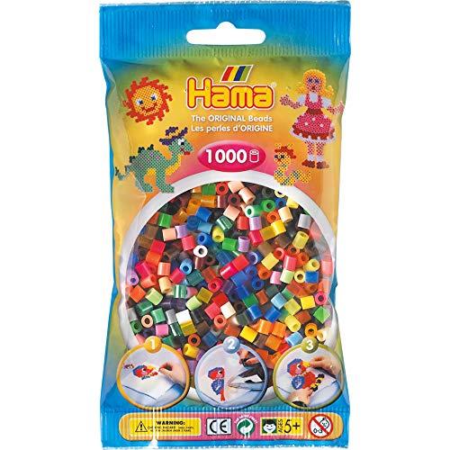 Hama 207–Mezcla de Perlas de 68–68(1000Midi Beads)