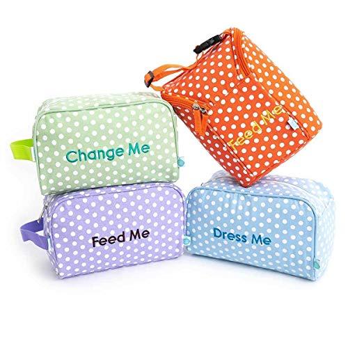 Easy Baby Diaper Bag Organizer Tote Pouches Organizer (Laguna, Pack of 4)