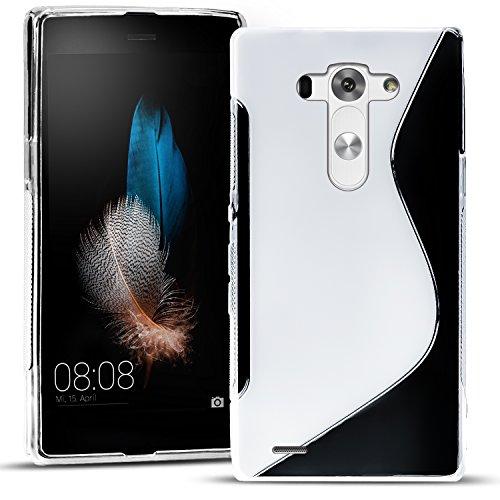 Conie SC15771 S Line Hülle Kompatibel mit LG G3, TPU Smartphone Hülle Transparent Matt rutschfeste Oberfläche für G3 Rückseite Design Clear