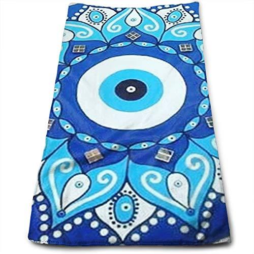 Mandala Greek Evil Eye Symbol Hand Towels Beach Towel Instant Cool Ice Towel Gym Quick Dry Towel Microfibre Towel Cooling Sports Towel 12 X 27.5 Inch