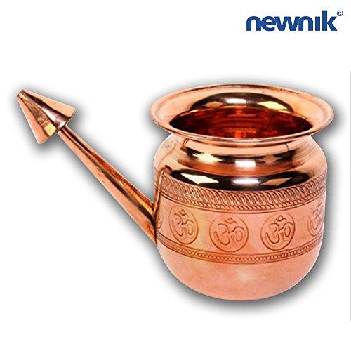 pot de Nethi pot de nez NETI POT Pot de rincer nasal en c/éramique Neti avec symbole OM