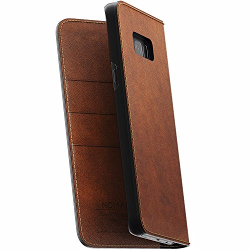 Nomad Samsung Galaxy S8 Plus Traditional Leather Folio Case - With Card/Bill Pockets - Wireless...