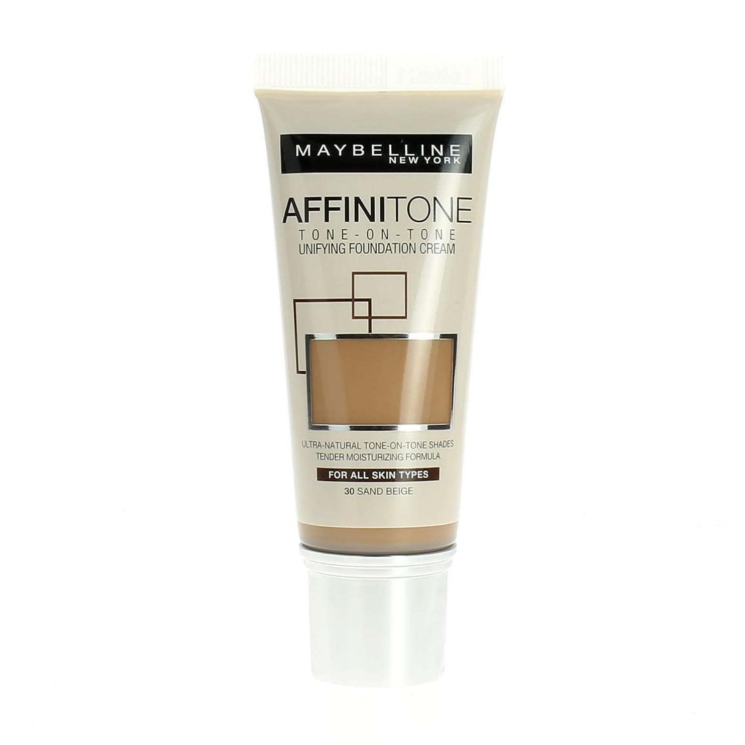 豚屋内考古学Maybelline Affinitone Unifying Foundation Cream (30 Sand Beige) 30 ml