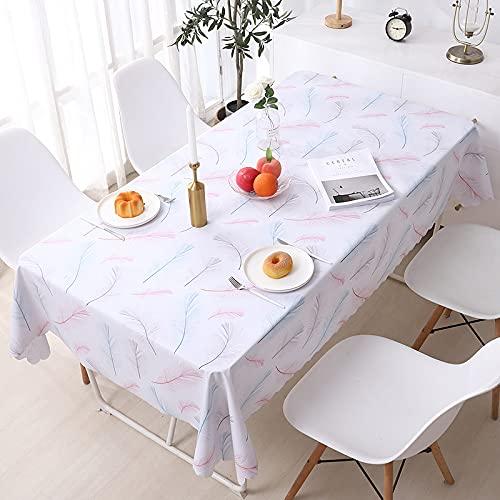 LIUJIU Mantel rectangular de vinilo a cuadros, mantel de PVC, fácil de limpiar, apto para mesa de comedor, fiesta de autoservicio y campamento, 137 x 137 cm