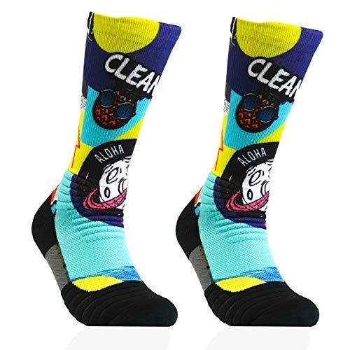 BB BANBROKEN Calcetines deportivos (1 PAR) Estabilidad en pie Fitness, compresión para Gimnasio, Trail, Running, Halterofilia, Ciclismo, Padel - Hombre, Mujer -Unisex (2unds) (RIO, L-XL)