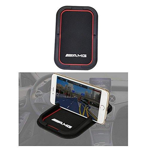 YIKA Soporte de goma para Samsung S5/S4/S3/iPhone 4/5/5s/5c/6 y otros teléfonos móviles AMG accesorio de coche