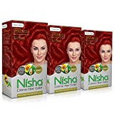 Nisha Creme Hair Color For Women Men Hair Color Flame Red Hair Color Long Lasting 100% Grey Coverage Hair Color With Natural Herbs For Occasion Hair Color Conditioning Pack of 3 Red Hair Color