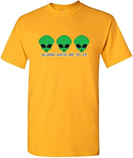 Aliens Made Me Do It Space Science Kids Sarcastic Area 51 Funny T Shirt