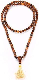 Odishabazaar Tiger Eye Prayer Beads Mala for Good Luck 108 +1 Bead