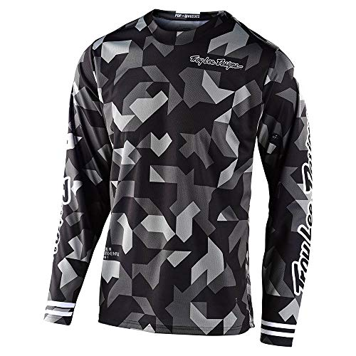 Troy Lee Designs Mens | Offroad | Motocross | GP Confetti Jersey (Black, Large)