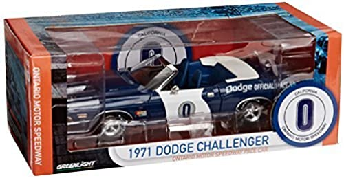 DODGE CHALLENGER 1971 ONTARIO MOTOR SPEEDWAY PACE CAR 1 18 SCALE LIMITED EDITION DIECAST MODEL by GrünLIGHT
