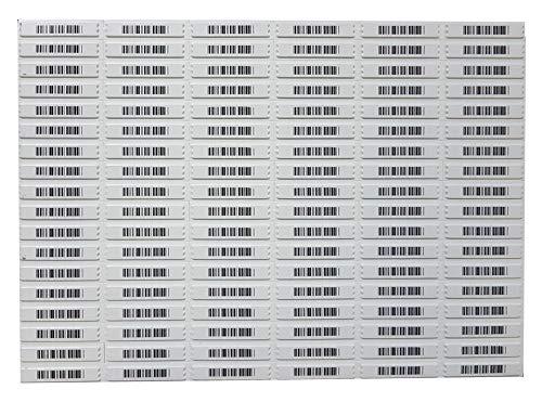 5000 AM Klebeetiketten 58 kHz Sicherungsetiketten Dummy Barcode Deaktivierbar Warensicherung A009 Weiß