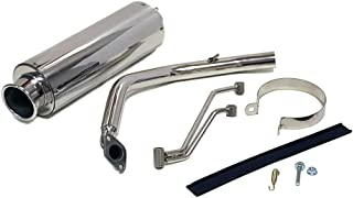 Motorcycle Scooter Full Exhaust System for GY6 125cc/150cc Engines. Stainless Steel