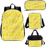 Juego de mochila para adolescentes de 17 pulgadas, set de bolsas para escuela, escuela, viajes, picnic