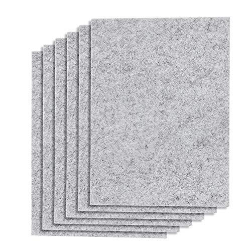 NIAGUOJI - Feltrini per mobili, 6 pezzi, grandi 30 cm x 20 cm, feltrini autoadesivi in feltro da 5 mm, per proteggere piastrelle, laminato, pavimenti in legno duro