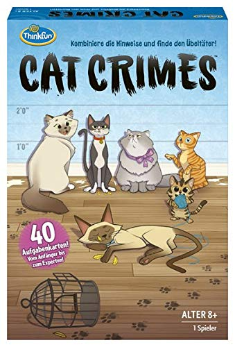 ThinkFun 76366 - Cat Crimes - Kombiniere die Hinweise und finde den Übeltäter!