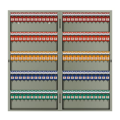 Armarios para Llaves Gabinete para Llaves Patio Exterior Jardín Caja De Almacenamiento Metal Montado En La Pared Resistente Y Duradero 72/96/120 Agujeros (Color : Gray, Size : 120 Holes)