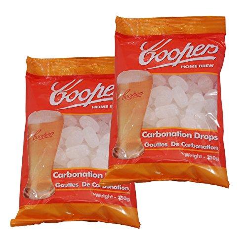 Coopers Carbonation Drops, gocce per la carbonazione (etichetta in lingua italiana non garantita), x2 Packs