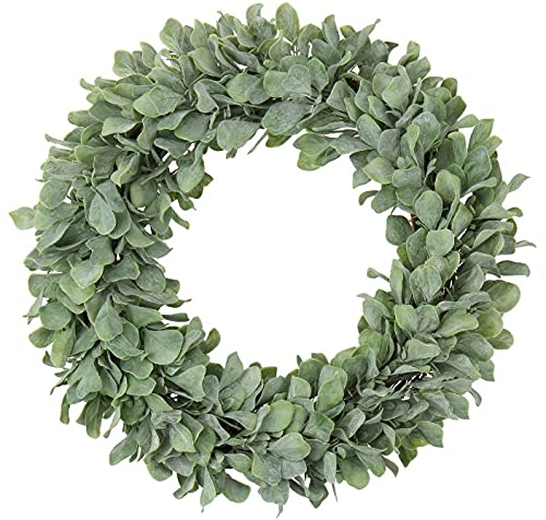 Simply Flora Artificial Wreath- Decorative Green Jasmin Leaves - 15 inches