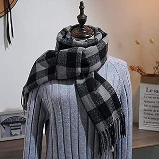 Le donne uomini grandi linee semplici Strisce Inverno Autunno Caldo Morbido Sciarpa Scialle Avvolgere UK