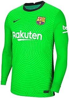 Nike 2020-2021 Barcelona Home Goalkeeper Football Soccer T-Shirt Jersey (Green) - Kids