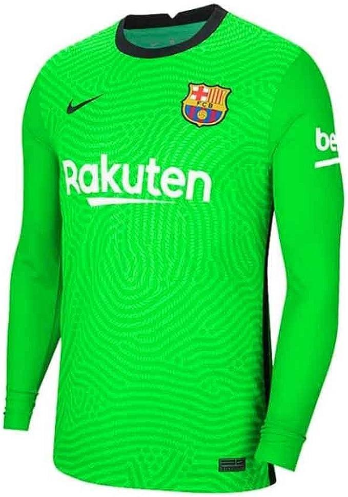 Nike 2020-2021 Barcellona Home Portiere Camicia (verde) - Bambini ...