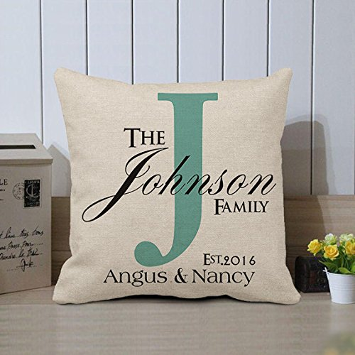 Personalized Family Name Pillow Covers Custom Pillows Pillow Case Decorative Pillow Case 18 x 18 Gifts for Newlywed