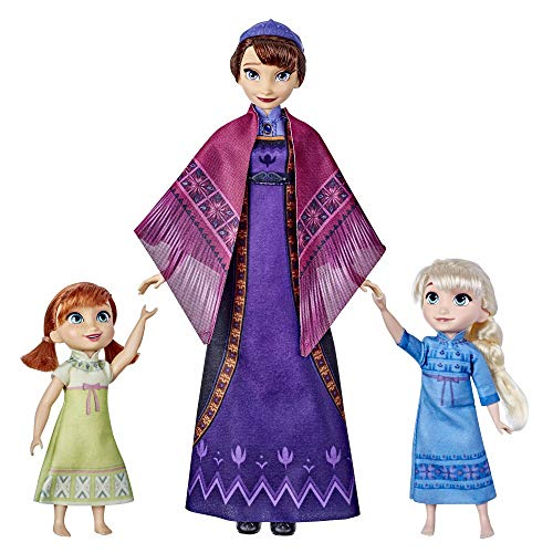 Disney Frozen 2 Queen Iduna Lullaby Set con Elsa e Anna Dolls, Singing Queen Iduna, giocattolo per ragazze ispirato a Disney Frozen 2