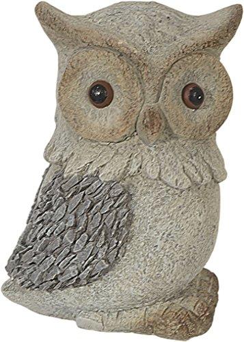 Figure de jardin Hibou avec d'optique de pierre