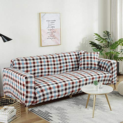 Hybad Couch cover Gooi voor hoekbank, High Stretch Elastic Anti-slip Slipcovers, Print stof bank covers, Sofa Slipcover voor hond kat huisdier
