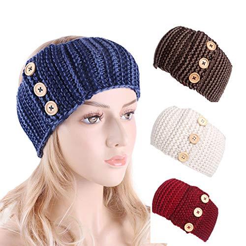 Automne Hiver Laine Bandeaux Chauds Pour Femmes Accessoires De Cheveux Bandes De Cheveux Boucle Filles Femelle Chapeaux 4pcs