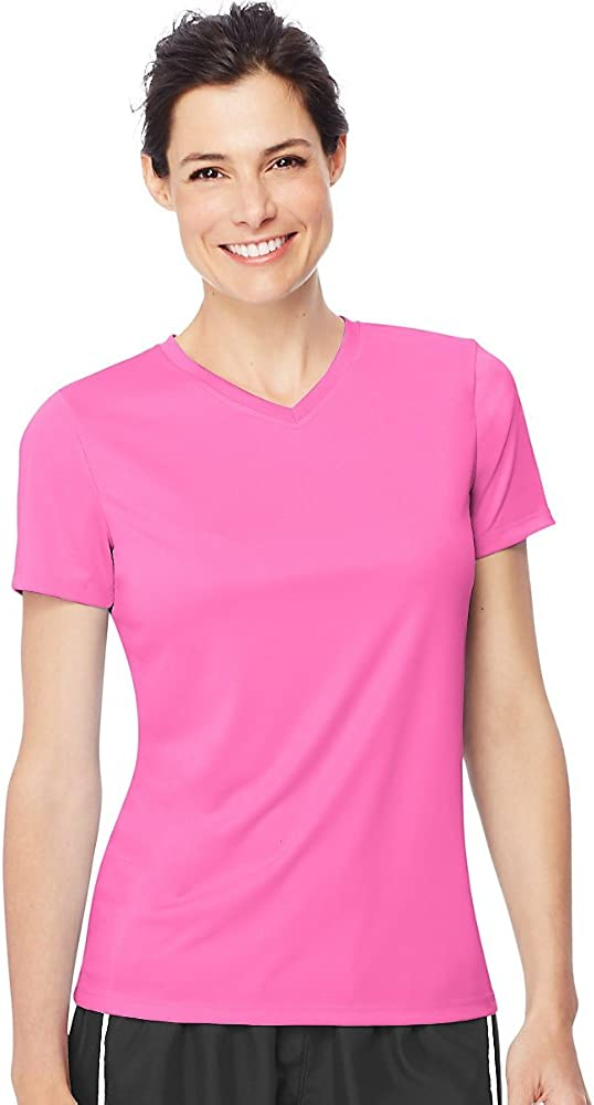 Hanes Opening large release sale Women's Cool DRI T-Shirt Max 64% OFF V-Neck