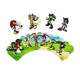 QIANXIMY Globos Sonic Cumpleaños Fiesta Decoraciones Niños Globo Bolsa de Regalo Papel Tazas Placas Cuchara Cuchara Bebé Ducha Desechable Vajilla Suministros (Color : Insert 24pcs)