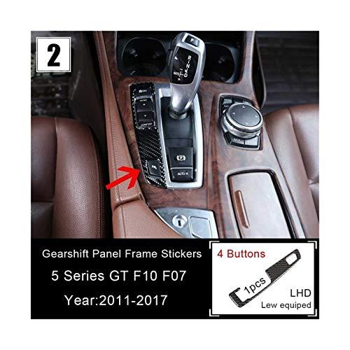 Piezas de Coches Panel Fibra Carbono Real Centre Shift Gear Consola para Serie 5 GT X3 X4 para BMW F07 F10 F25 F26 Engranaje Principal Cambio Cabezal Engranajes Modificado Decoración (Talla : 2)