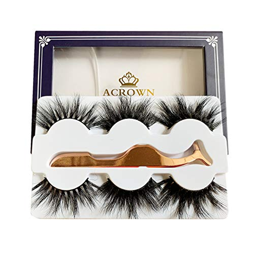 Price comparison product image Real Mink Lashes Fluffy Long 3D Dramatic Eyelashes Face Lash Strip 20mm Pack