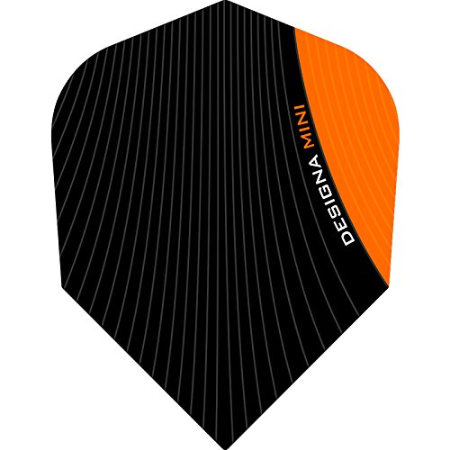 Designa Infusion Dart Flights–Mini orange–10Sets (30)–inklusive Darts Ecke gebogen Kugelschreiber