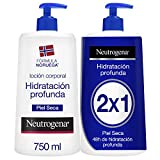 Neutrogena Crema Hidratante Corporal, Hidratación Profunda, 2x750ml