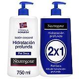 Neutrogena Crema Hidratante Corporal, Hidratación Profunda, Pack 2 x 750 ml