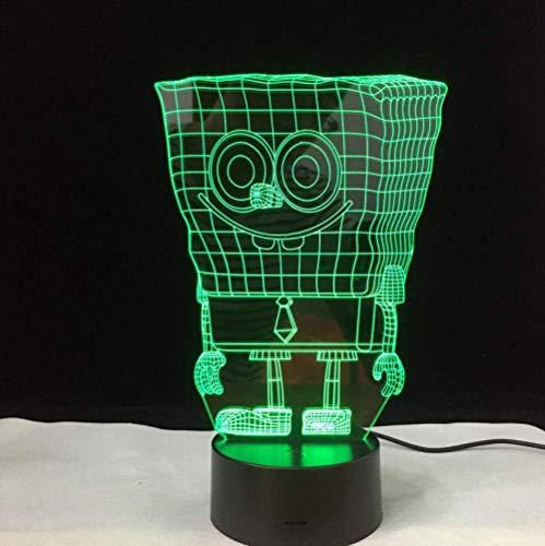 Nachtlampje met kleurwisseling, USB, oplader, 3D, Spongebob vierkant, acryl, led, nachtlampje, helder, tafellamp, baby, cadeau dropshipping